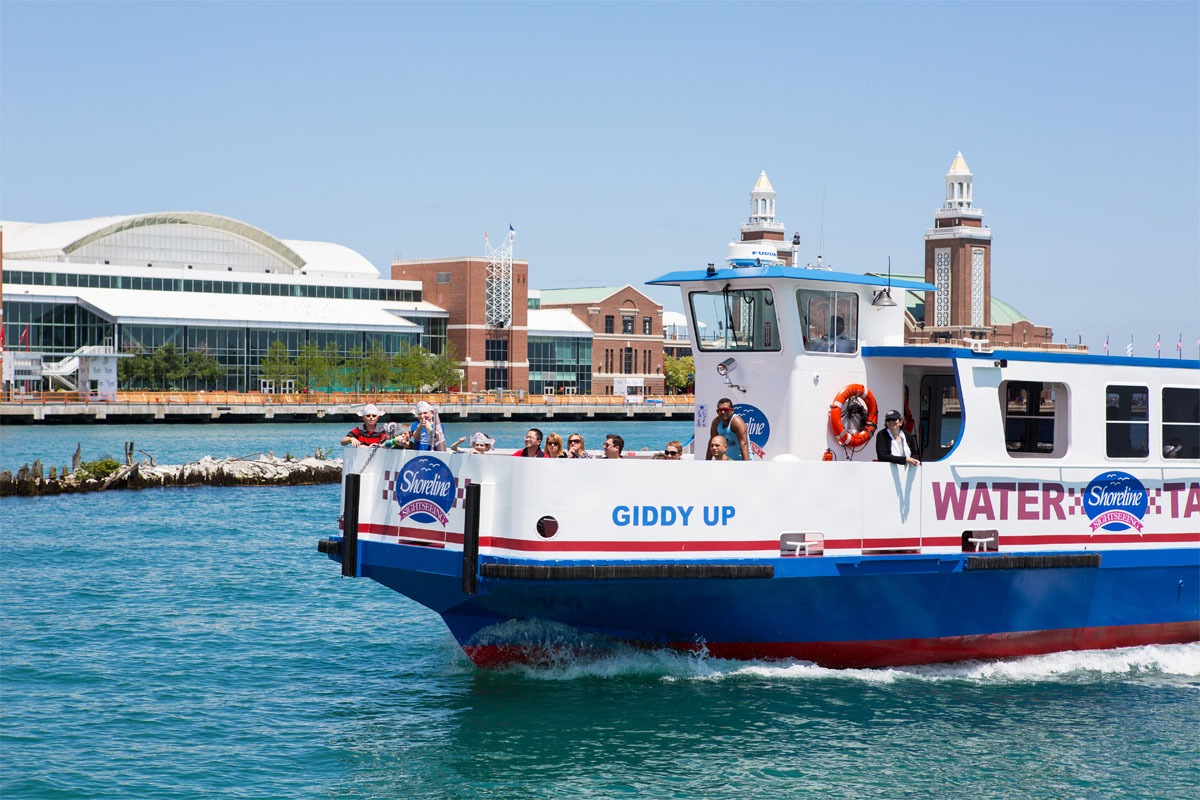 Water Taxi Shoreline Sightseeing At Navy Pier