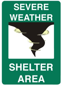 Weather Shelter Area Sign