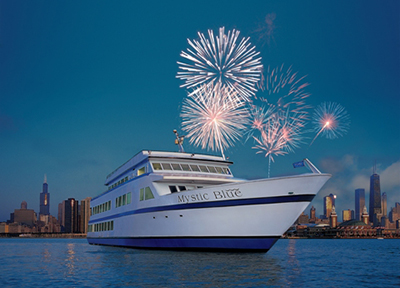 Mystic Blue Fireworks Dinner Cruises