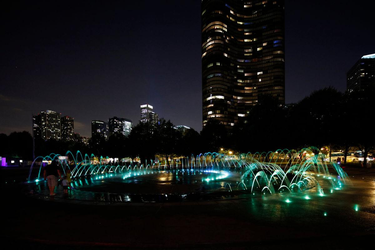 Polk Bros Fountain and Plaza