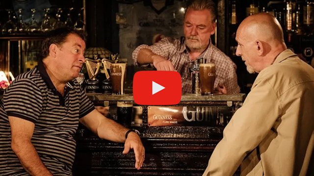 March 6-31, 2019, Chicago Shakespeare's Pub transforms into an immersive performance venue for Two Pints, by Booker Prize-winning novelist Roddy Doyle.