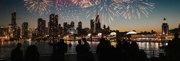 Lake Michigan July 4th Fireworks Dinner